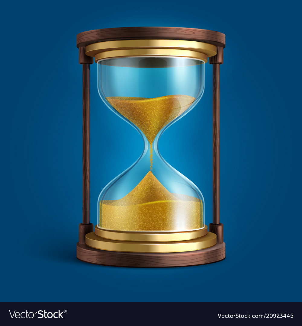 Realistic hourglass sand clock timer
