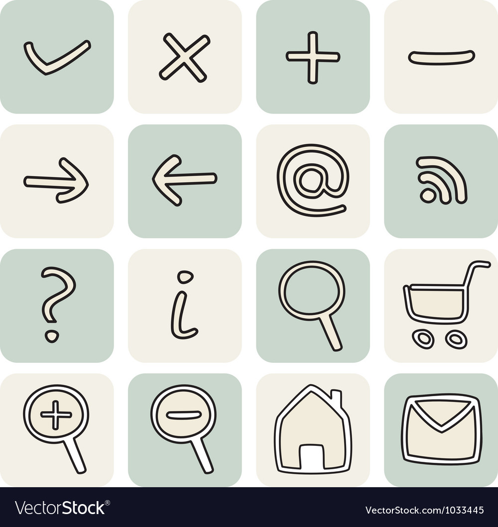Set with doodle hand drawn icons