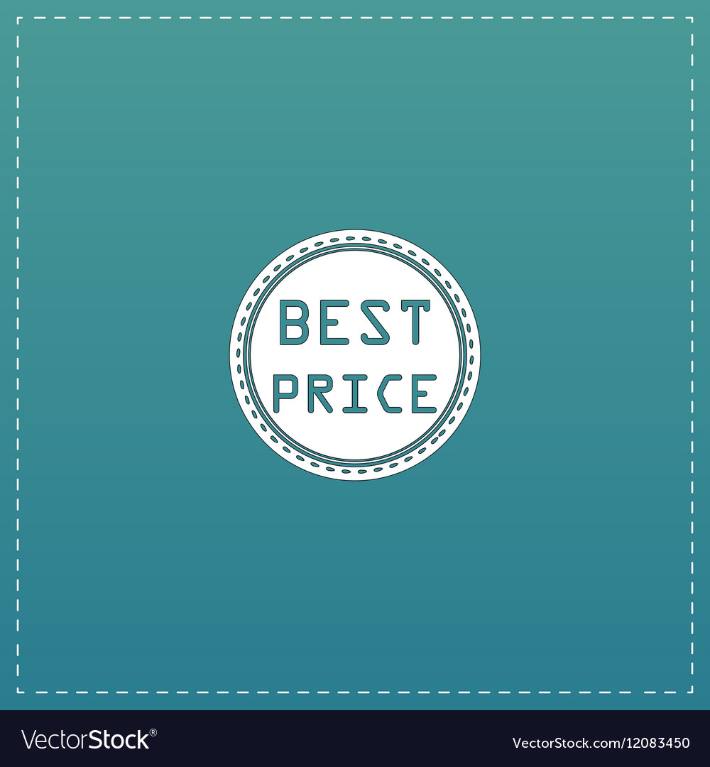 Best Price Icon Badge Label or Sticker vector image