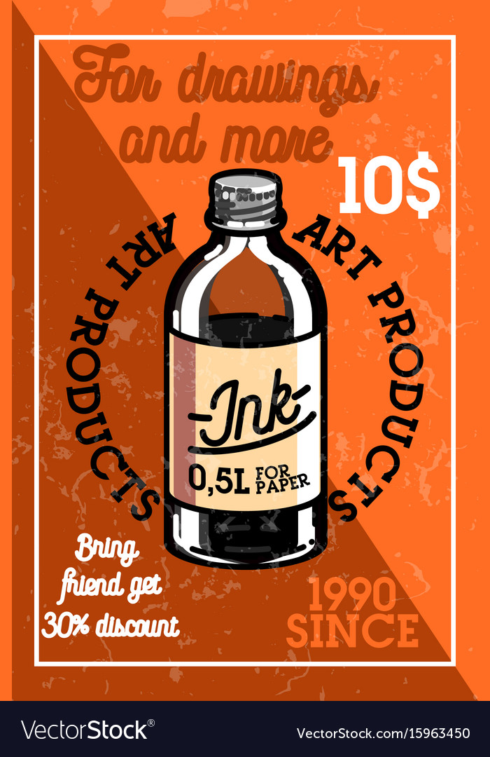 Color vintage art products shop banner