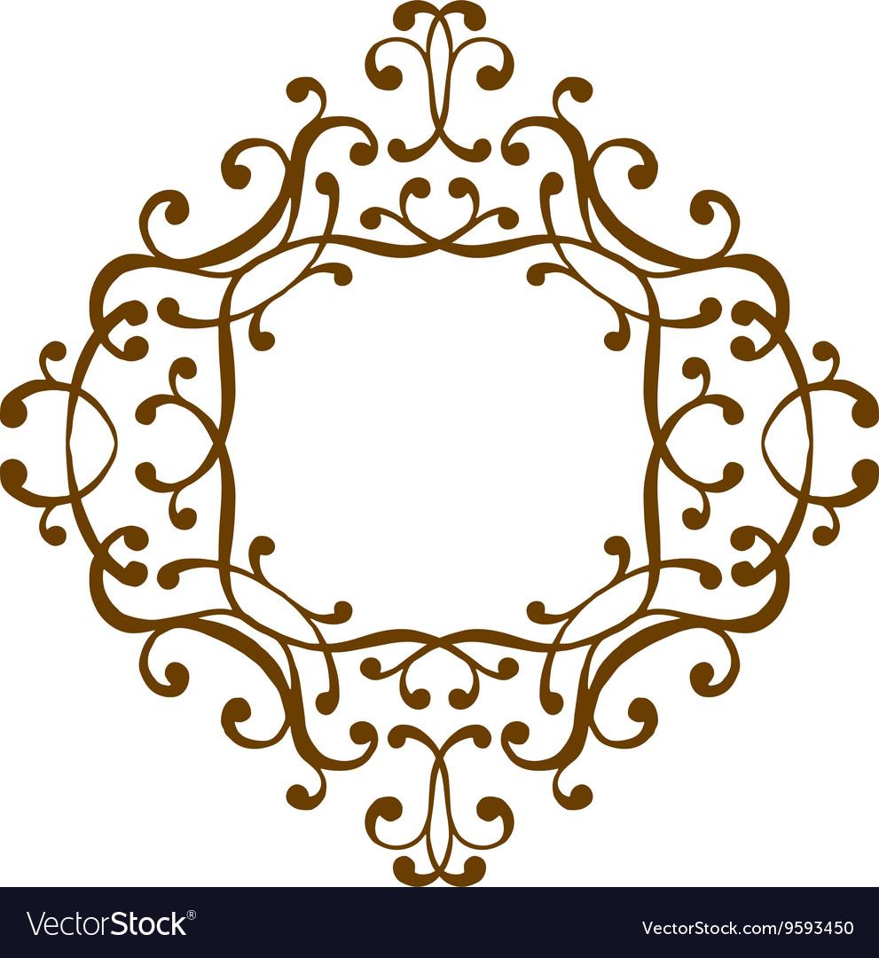 Luxury monogram template