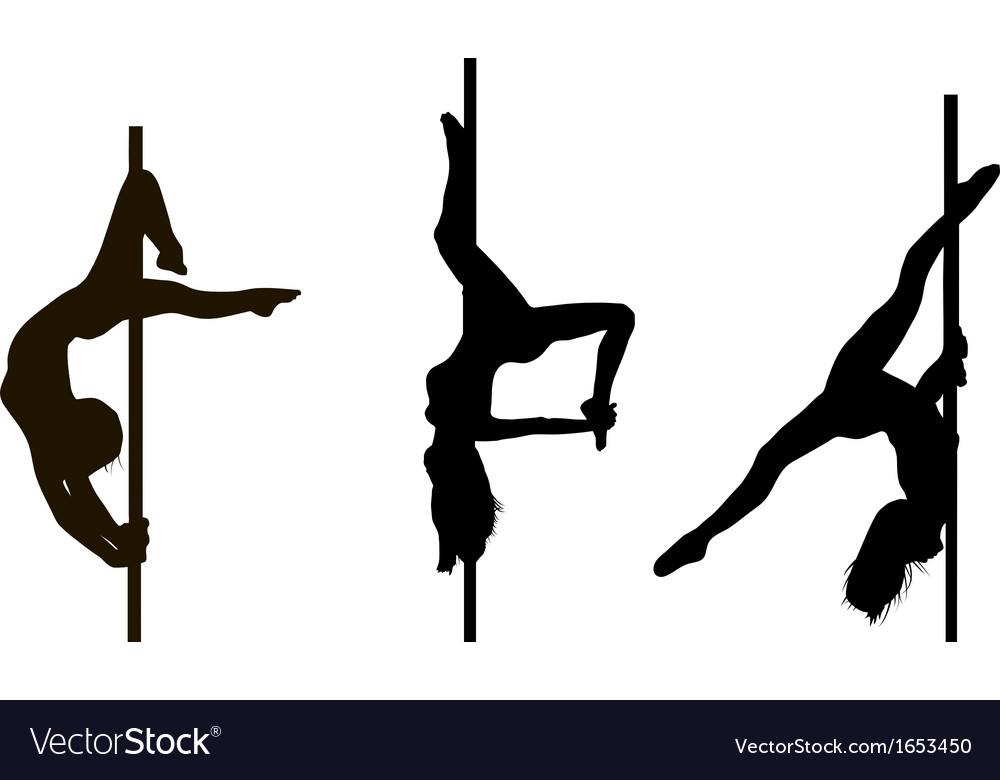 Pole Dancing Girls In Royalty Free Vector Image