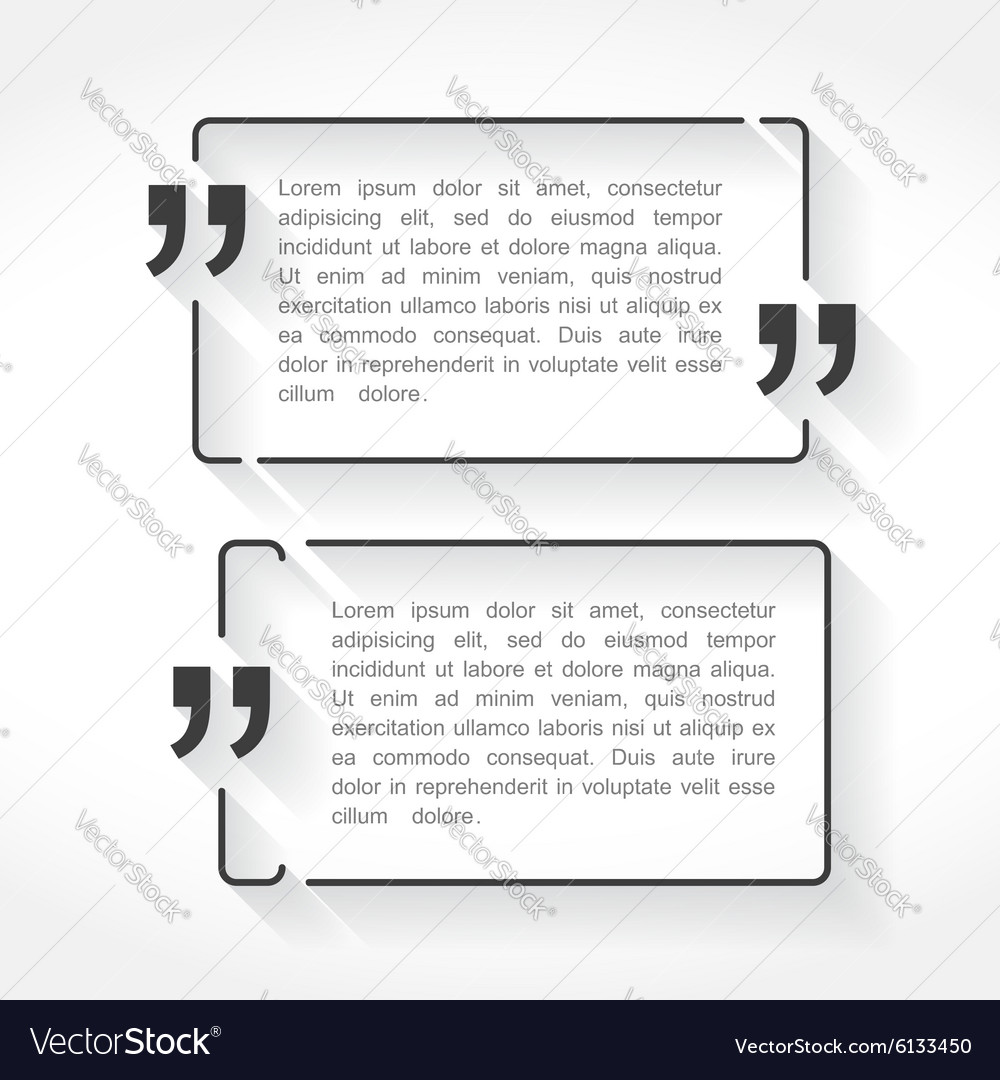 Quote Frames Royalty Free Vector Image - VectorStock