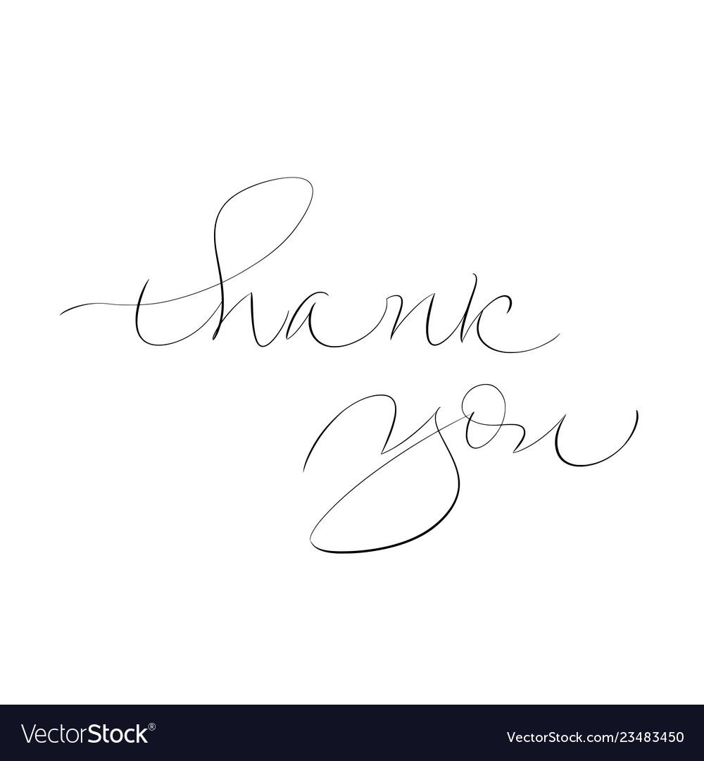 Thank you calligraphy