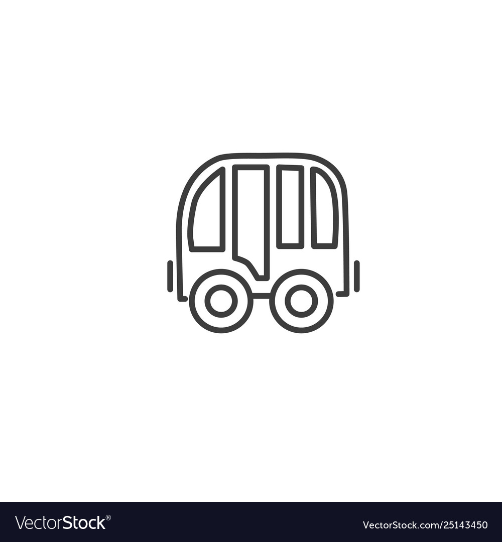 Urban and city element icon - bus in trendy simple