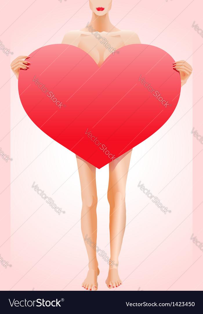 Valentines heart shape vector image