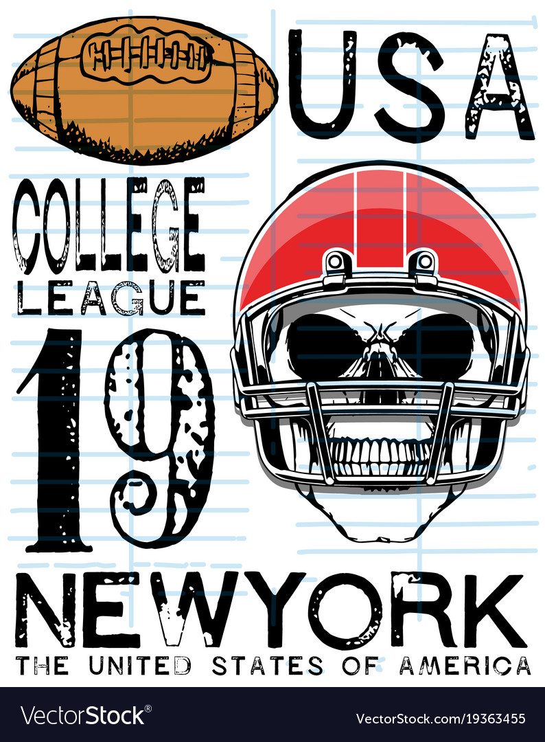 American football - vintage print for boy