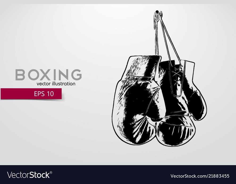 boxing gloves silhouette royalty free vector image