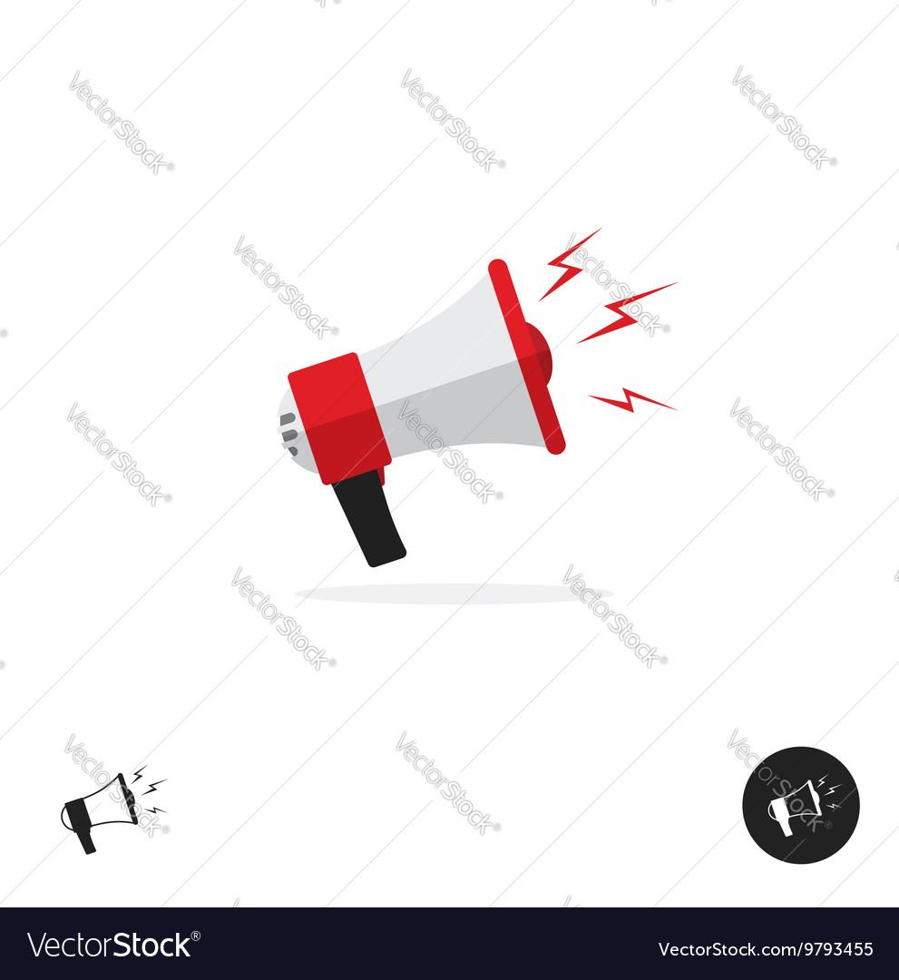 Bullhorn shout logo icon news alert equipment