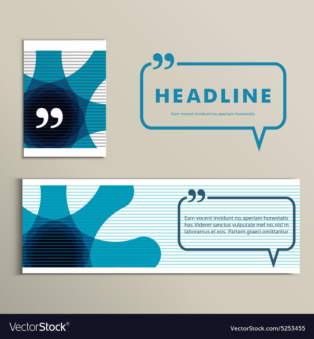 Color lines with headline speech bubble vector image
