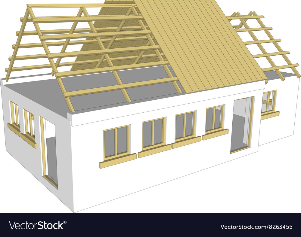 Cottage White House Vector Image On Vectorstock