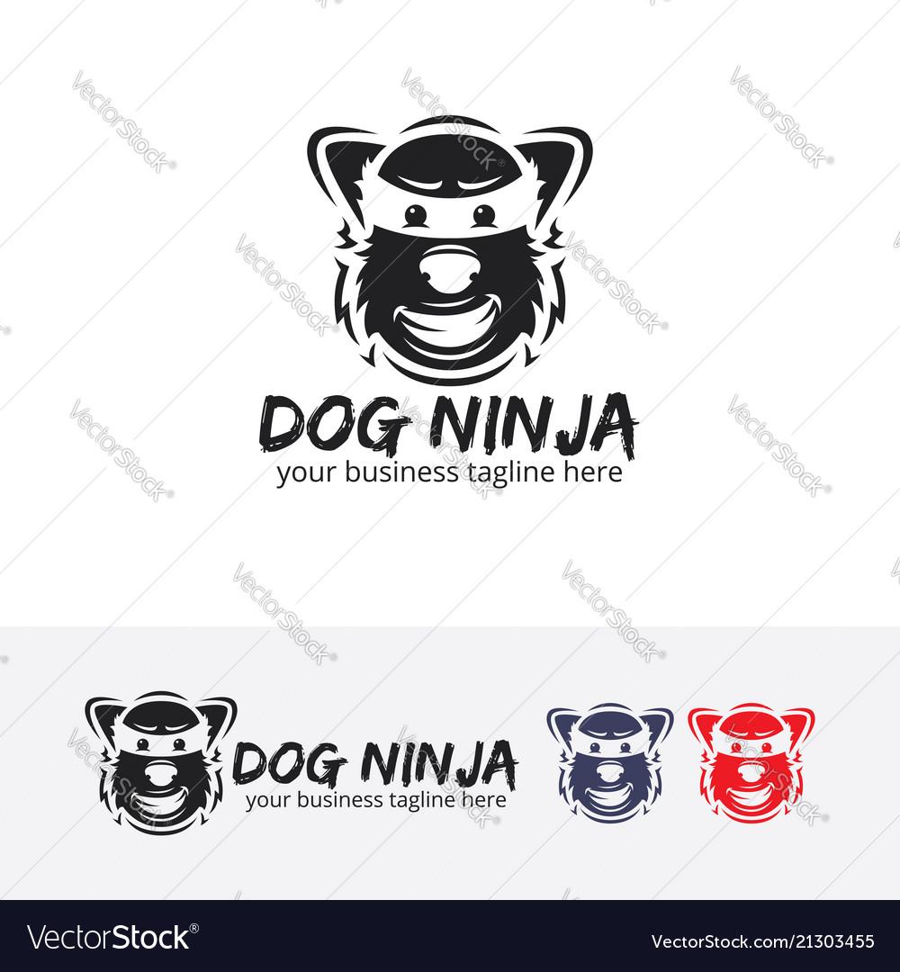 Dog ninja logo design
