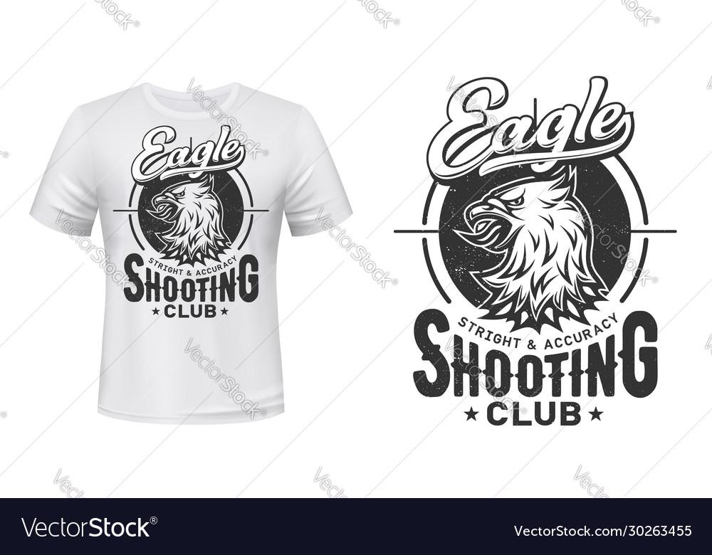 Eagle t-shirt print mockup shooting sport club