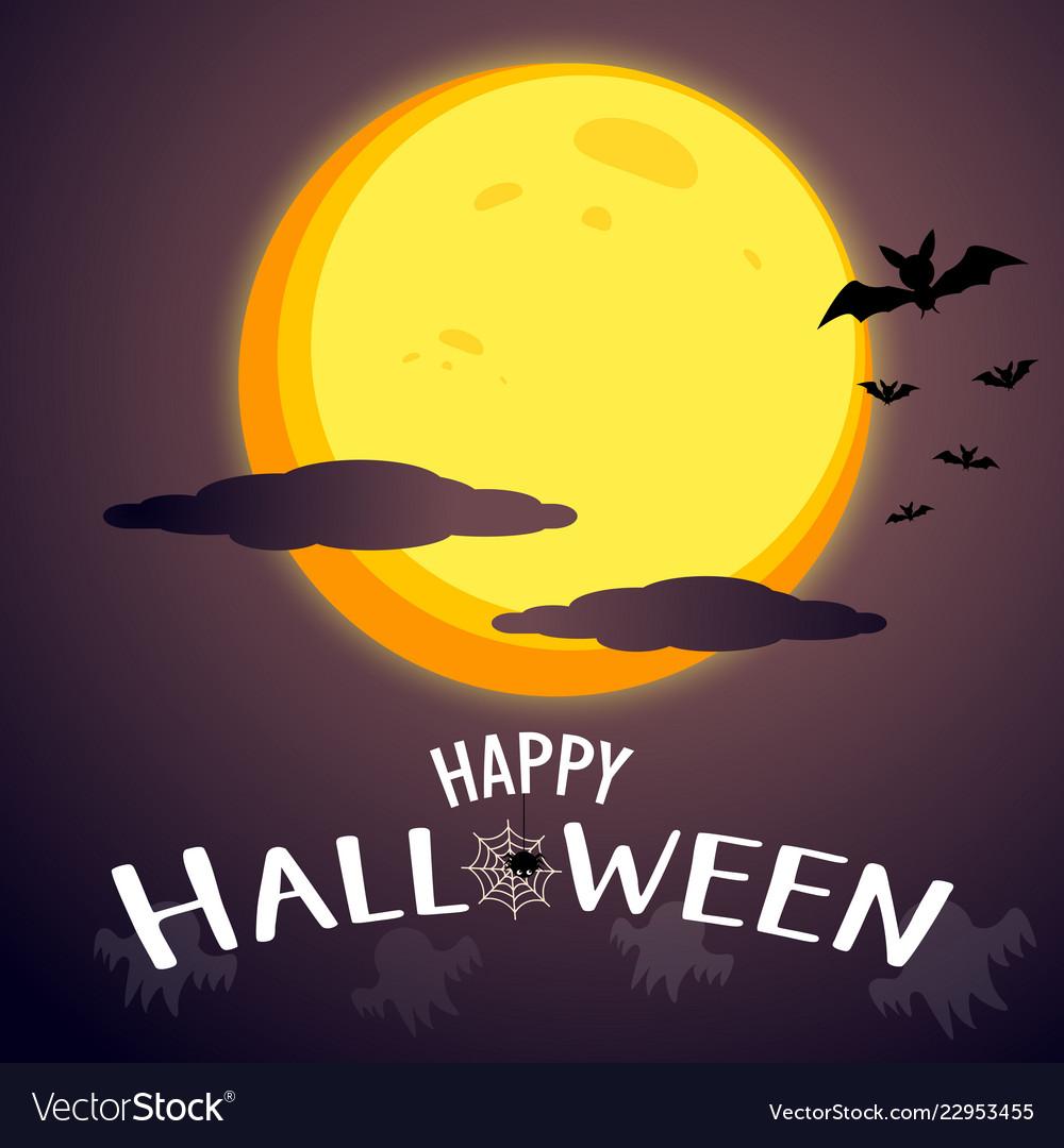 Happy halloween message graphic design background