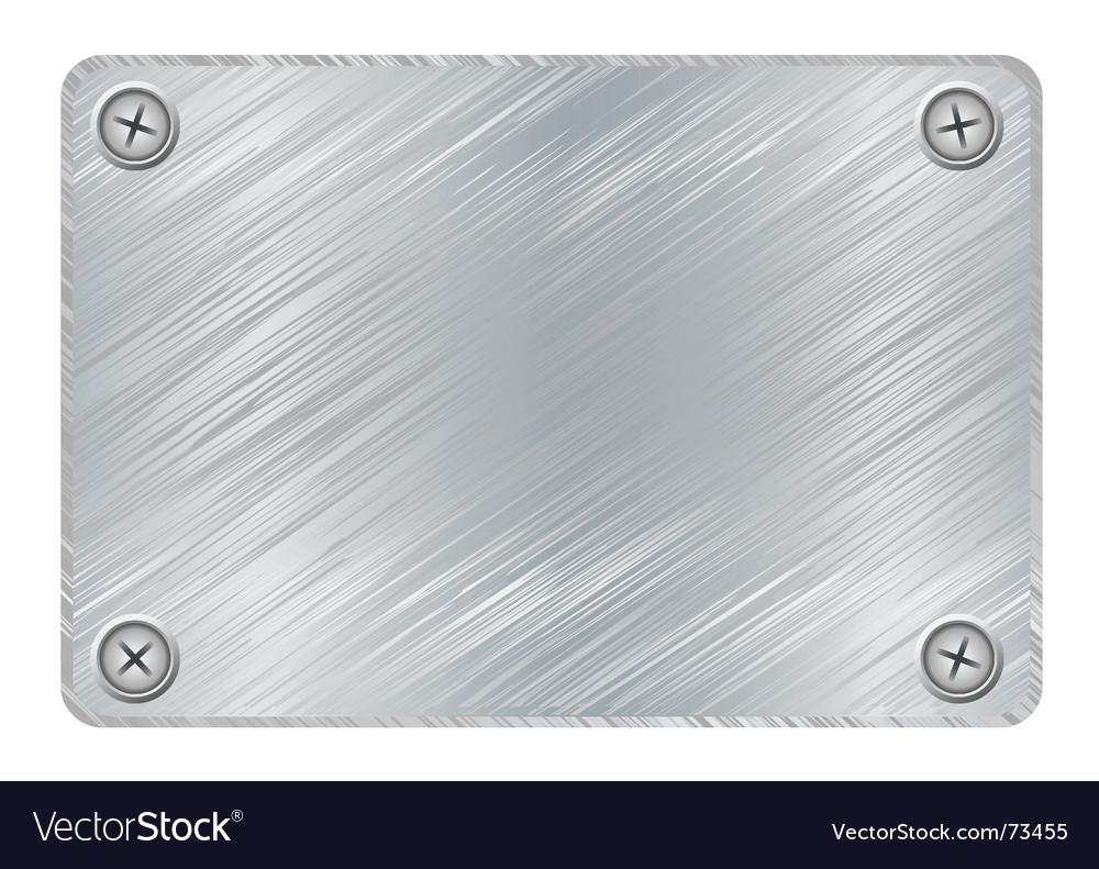 Metal plaque vector image