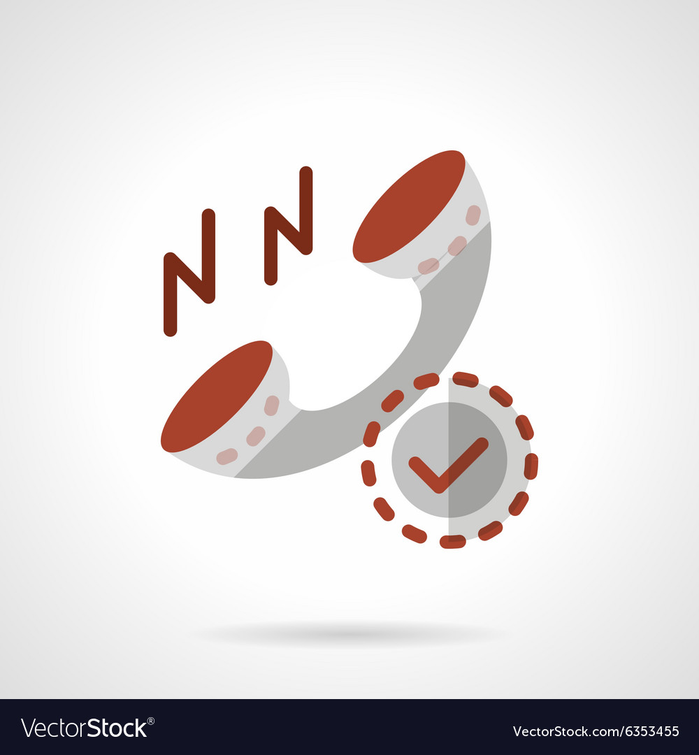 Phone receiver flat color icon vector image