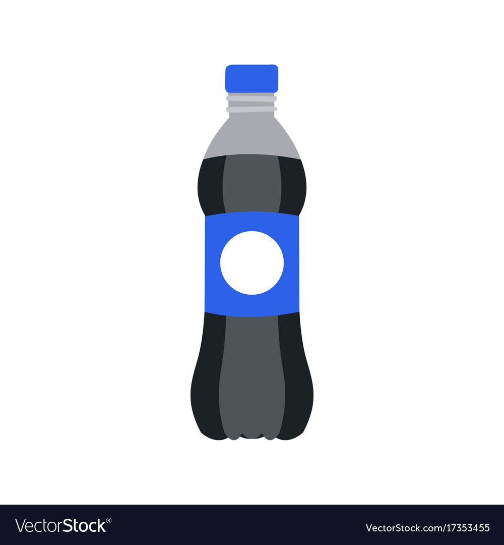 Refreshing drink in plastic bottle