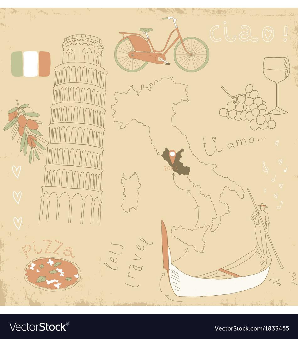 Set of Italy symbols