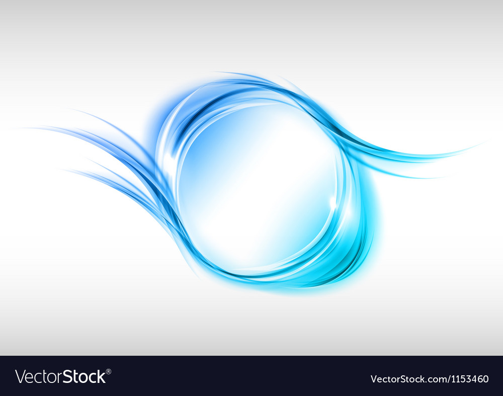 Abstract round blue vector image