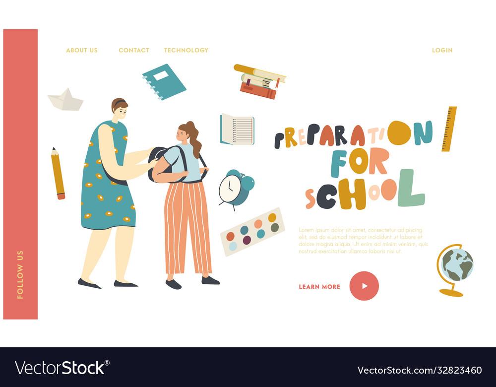 Back to school education preparation