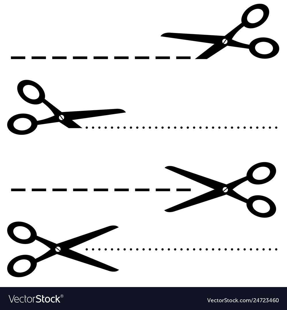 Black scissors icon on white