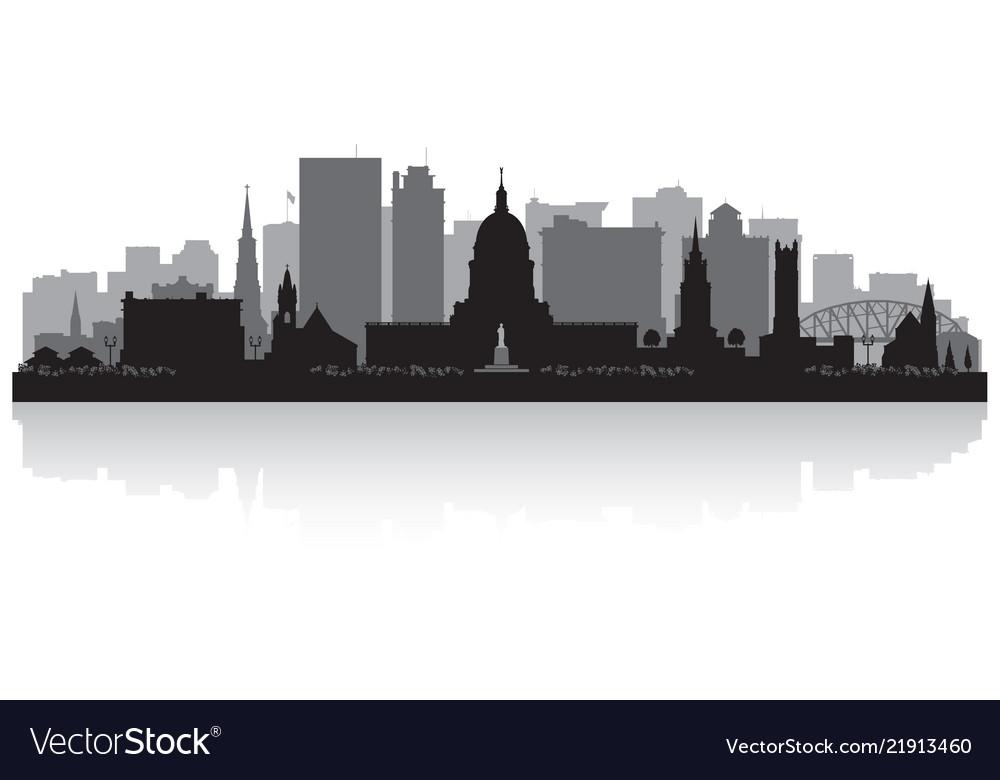 Charleston west virginia city skyline silhouette
