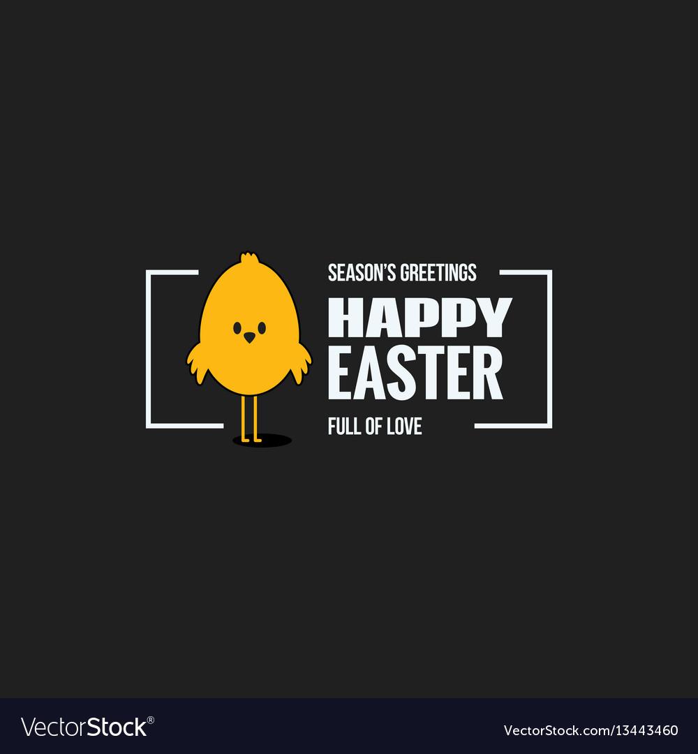 Easter vintage lettering design background