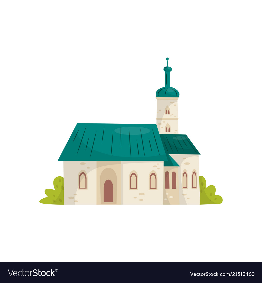 Flat icon of st mark s catholic church