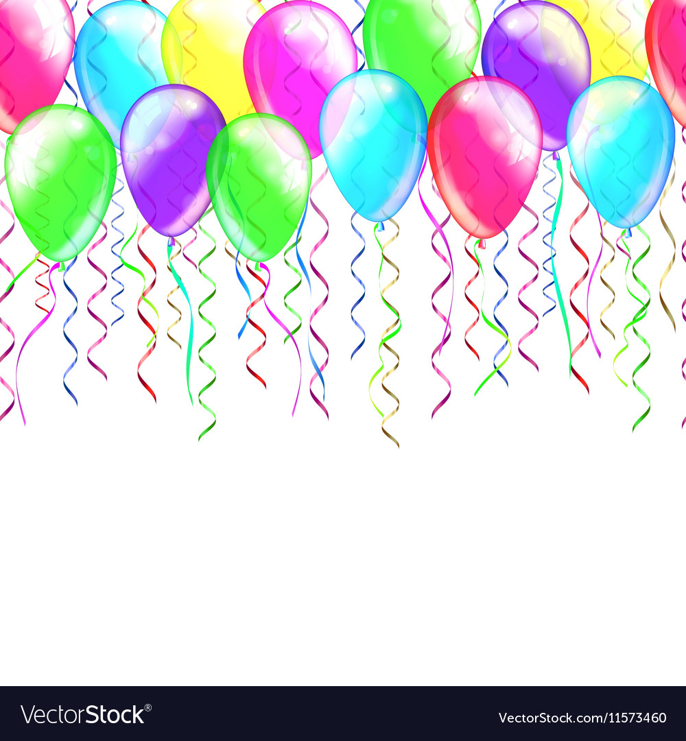 Greeting card template colorful confetti and