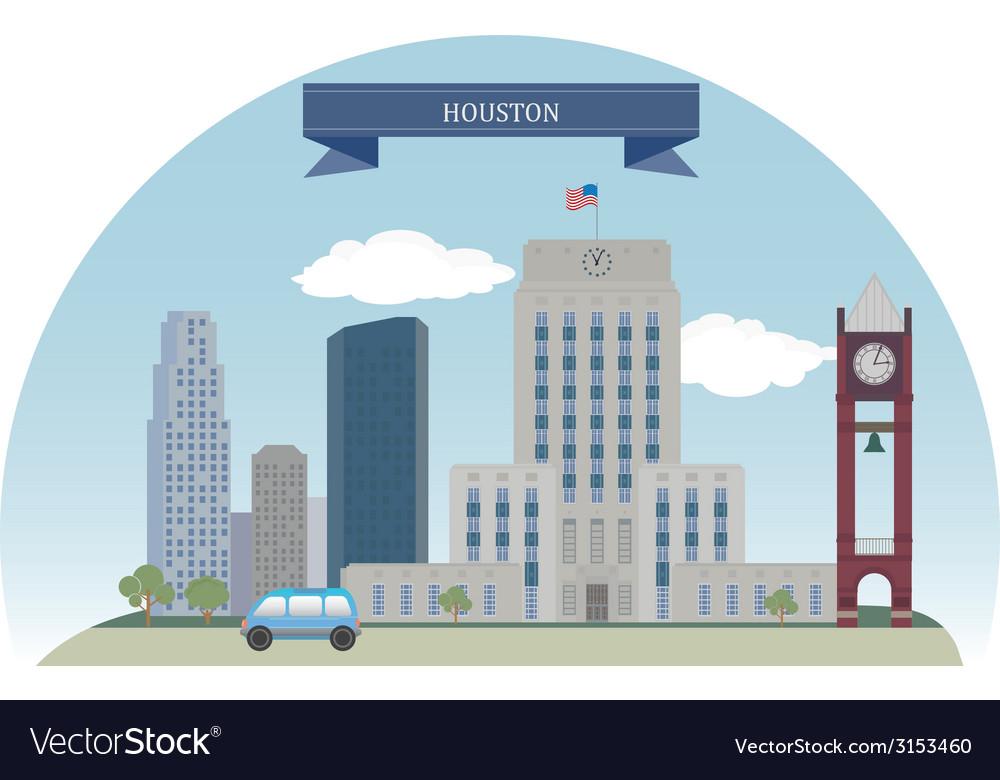 Houston vector image