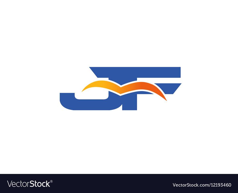 JF Logo Graphic Branding Letter Element vector image