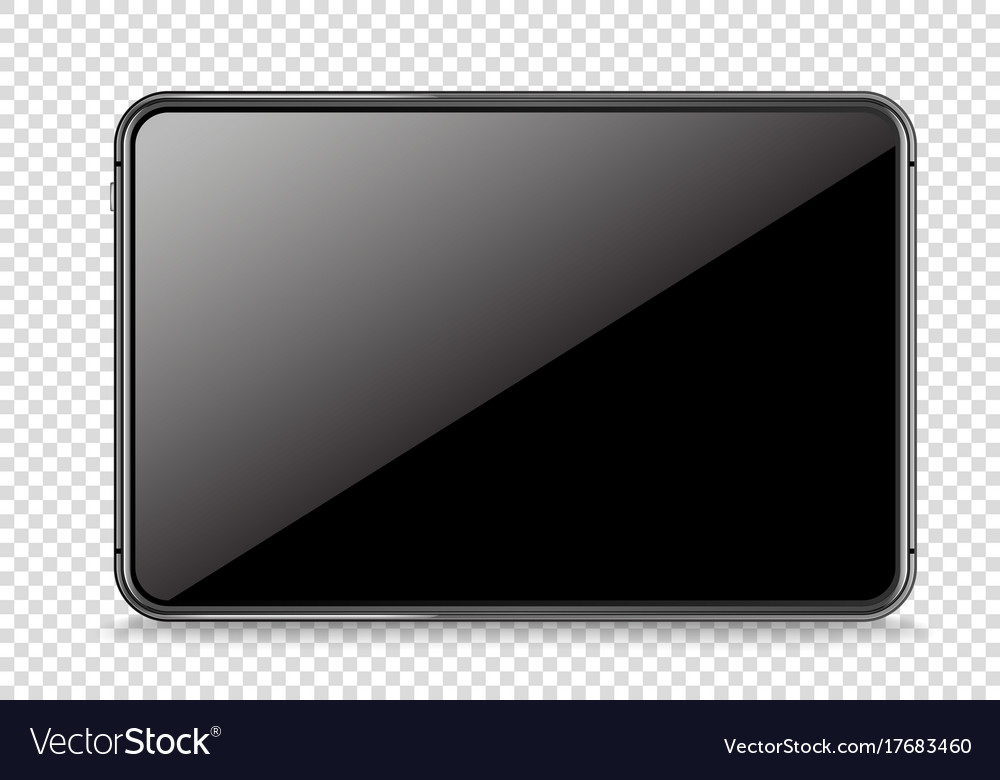 Modern tablet device mockup isolated on