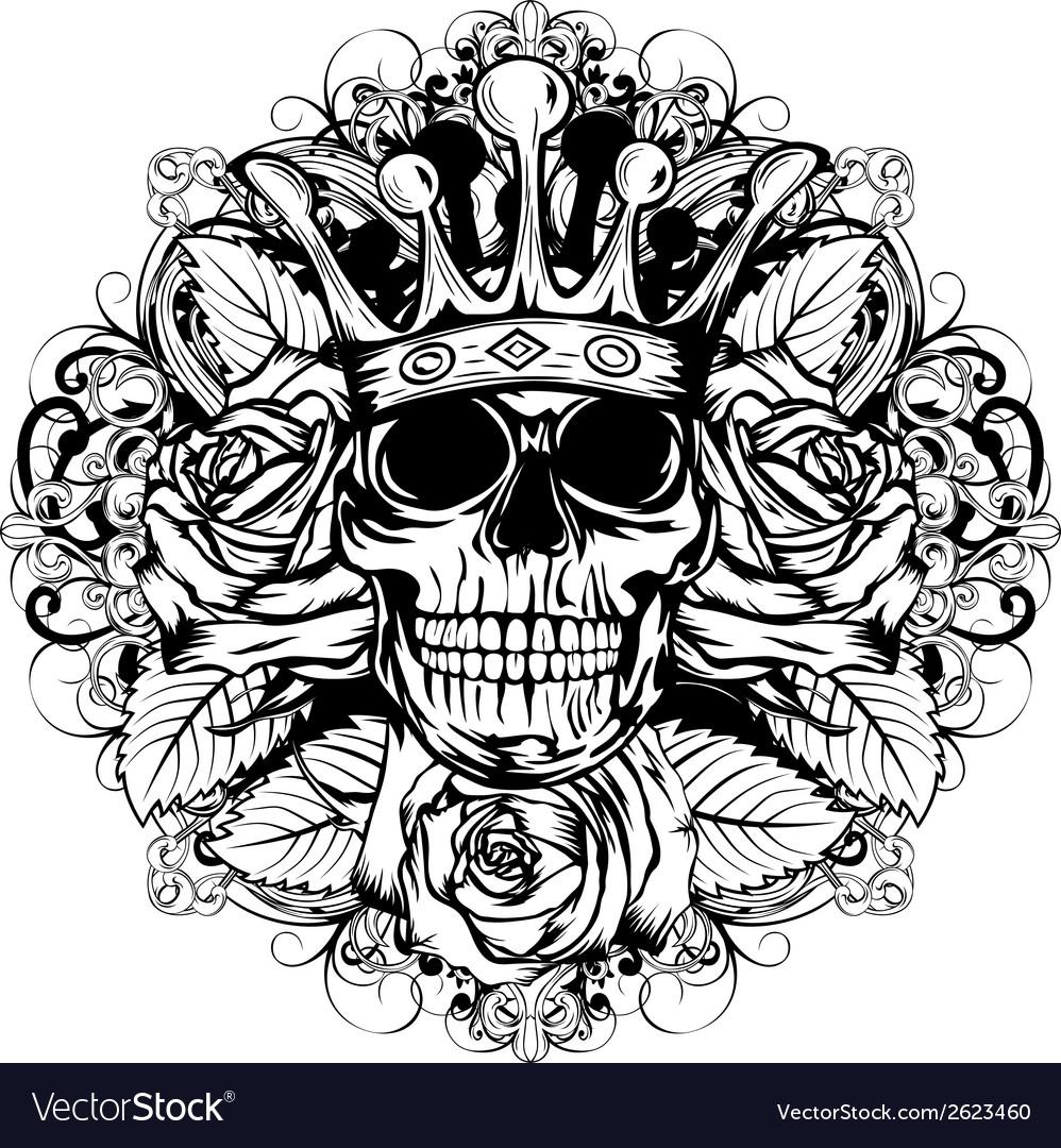Skull corona rose
