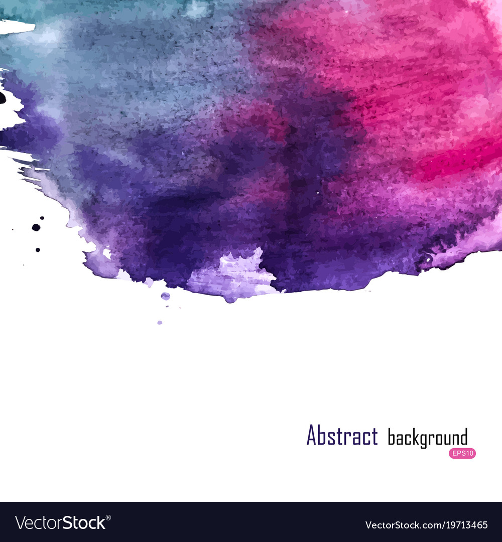 Abstract paint hand drawn watercolor background