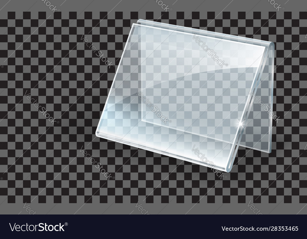 Acrylic holder glass or plastic display stand