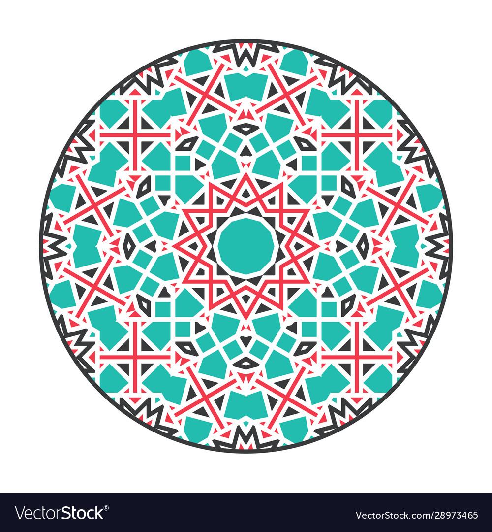 Asian geometric mandala frame