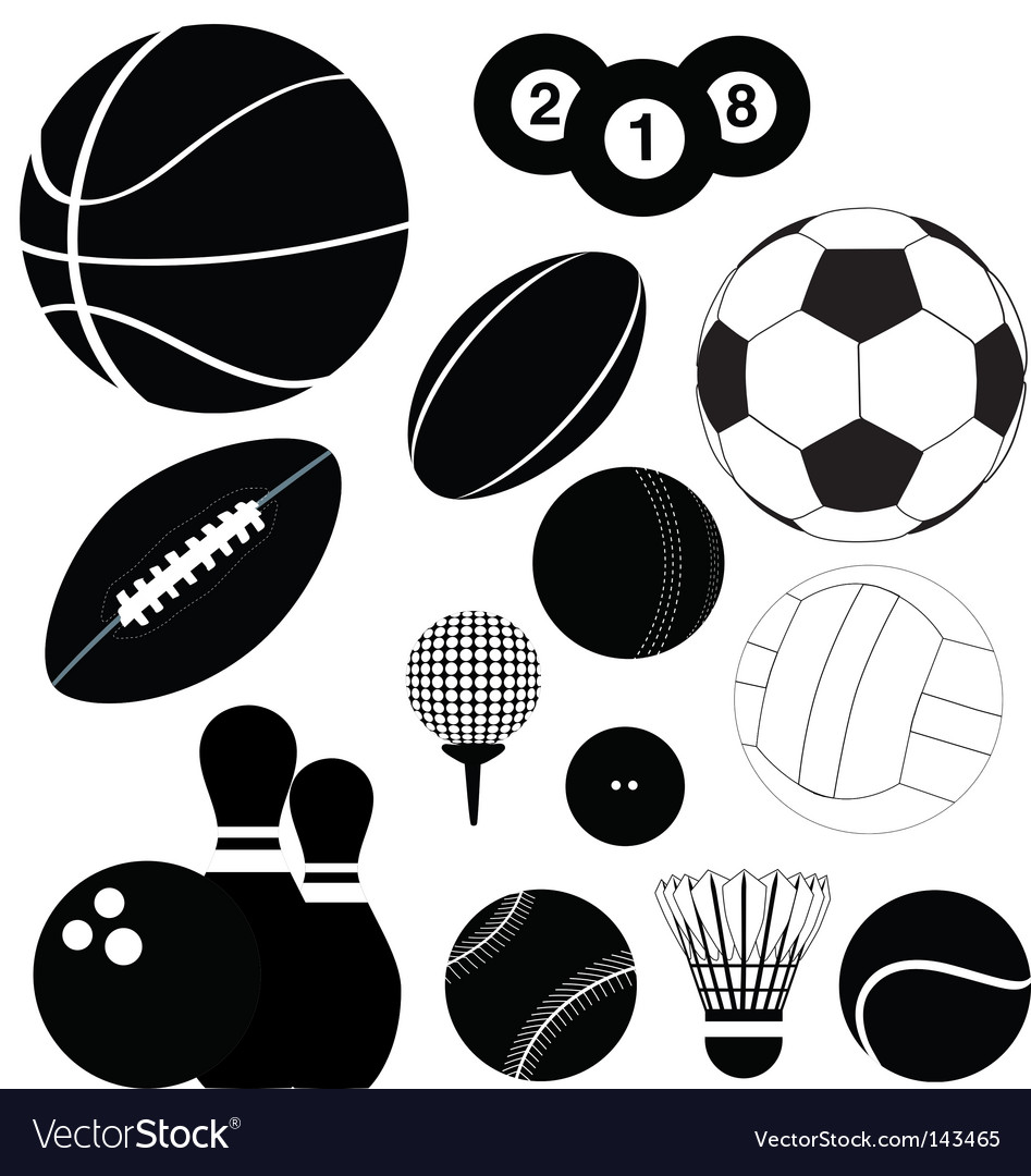 Balls silhouettes vector image