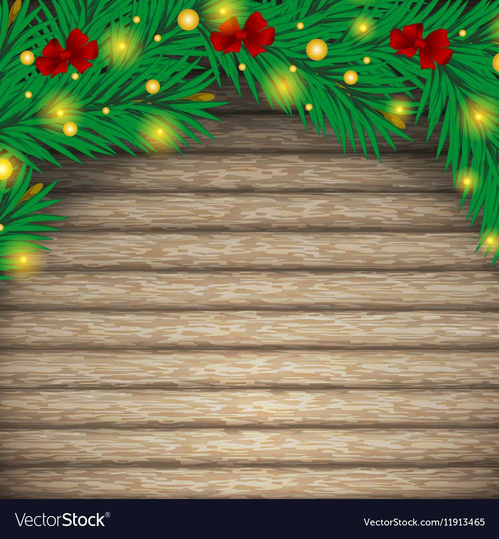 Christmas tree and decorative elements on vector image