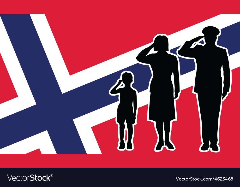 Norway soldier family salute