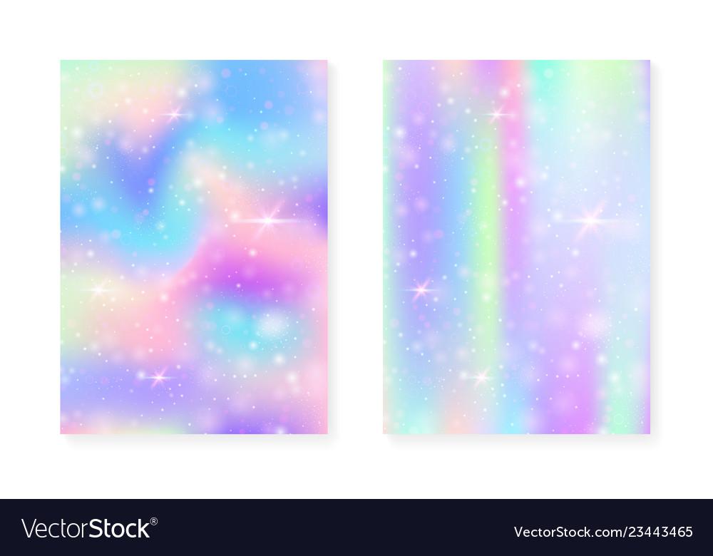 Unicorn background with kawaii magic gradient