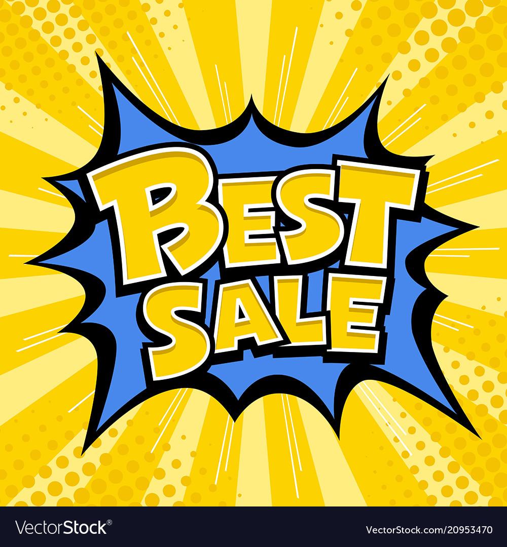 Best sale banner yellow message blue star