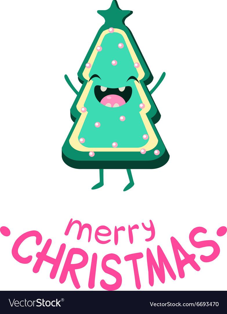 Cookie Christmas tree Cheerful card
