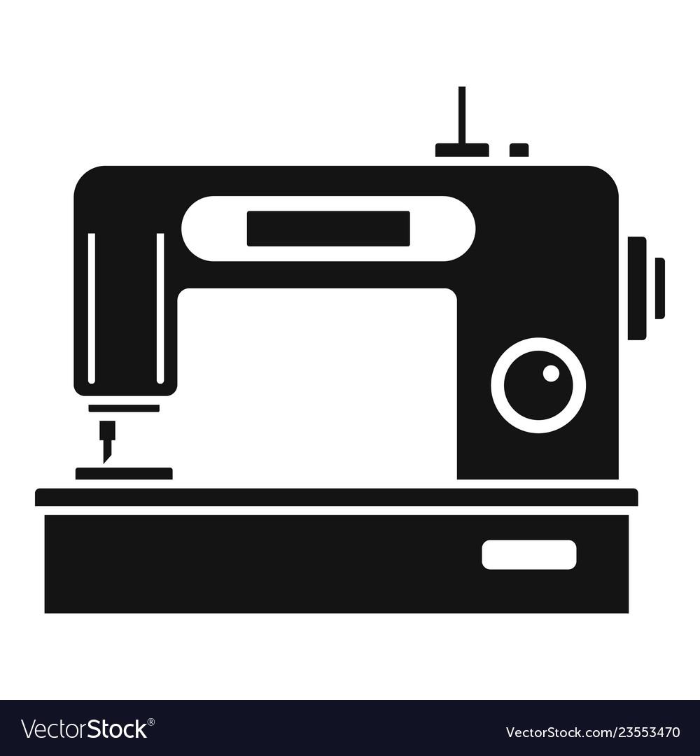 digital modern sew machine icon simple style vector 23553470