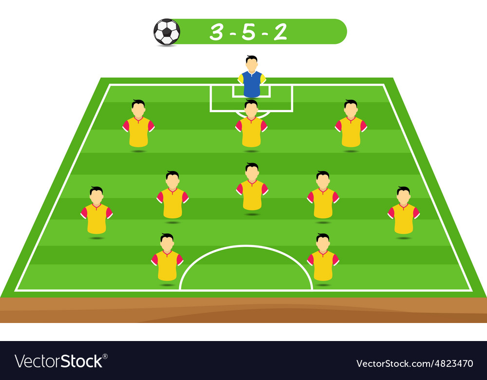 Football Tactics And Strategy Team Formation Vector Image
