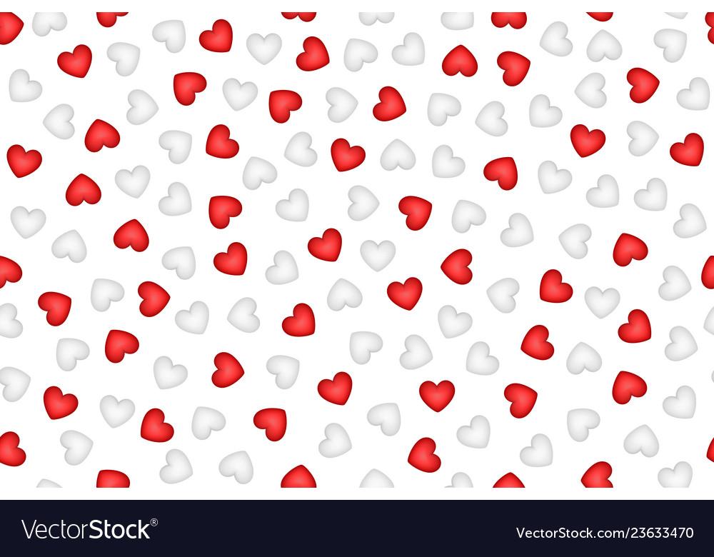 Gentle white hearts seamless pattern