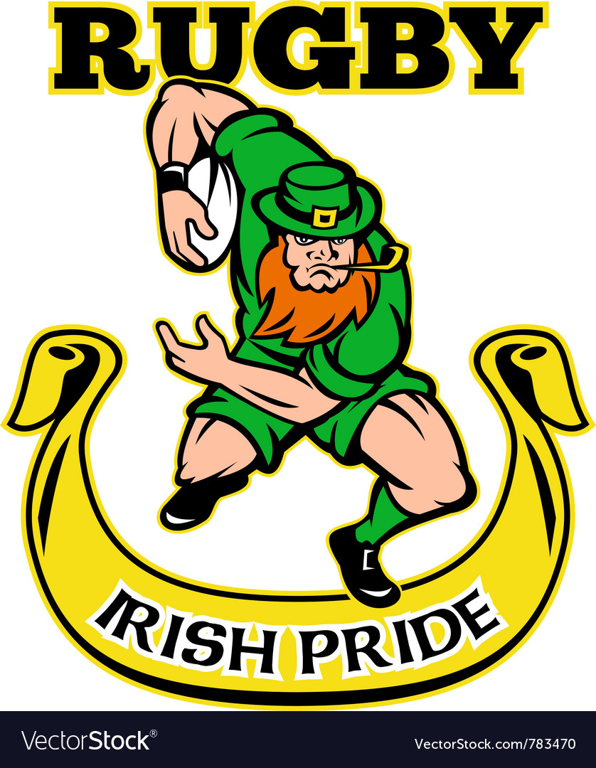 Irish rugby pride vector image