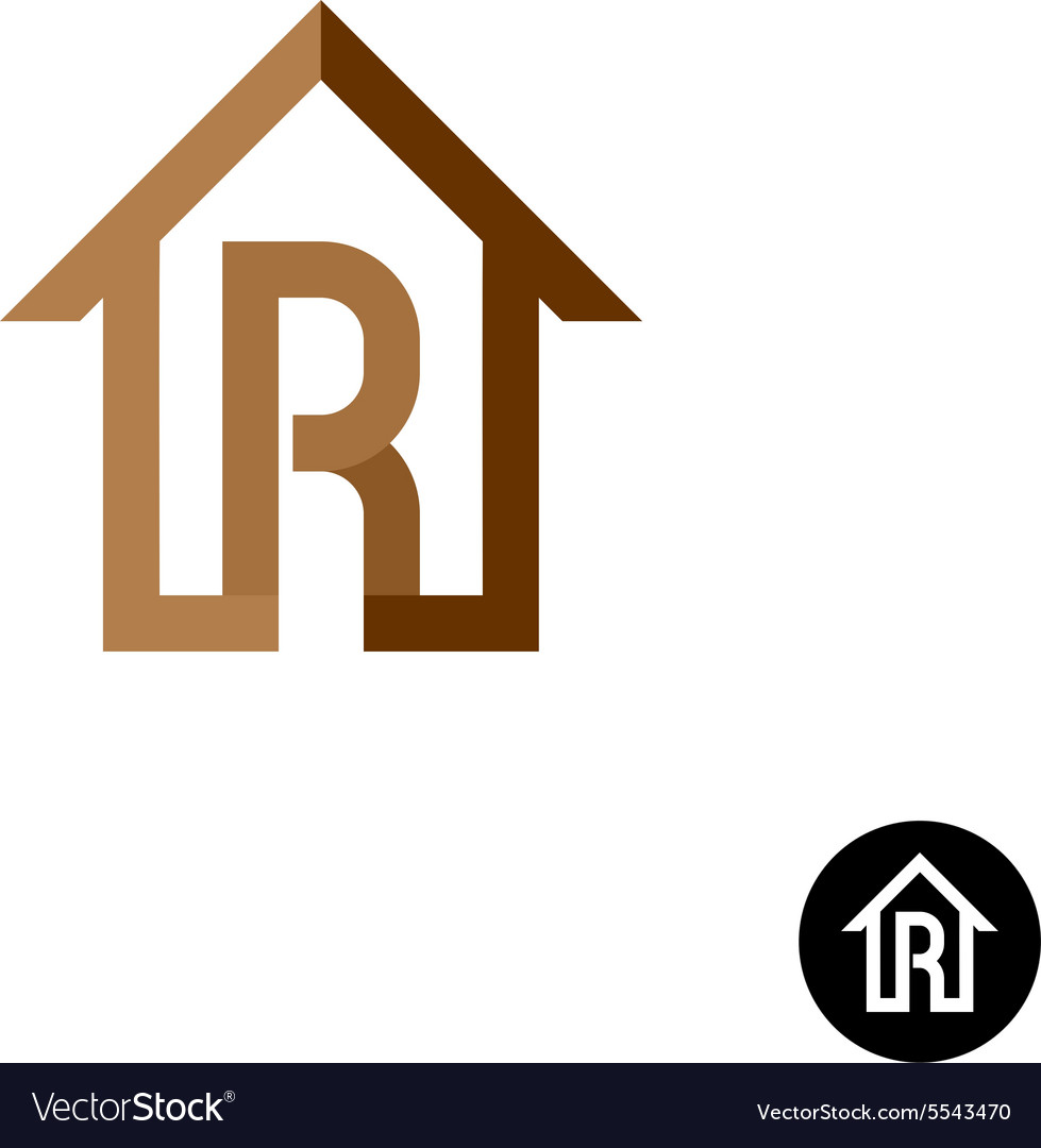 Letter R with house logo