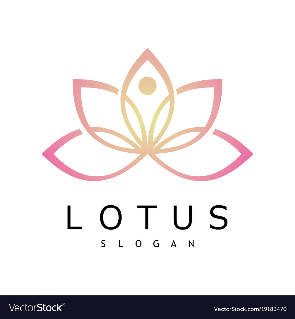 Line lotus logo