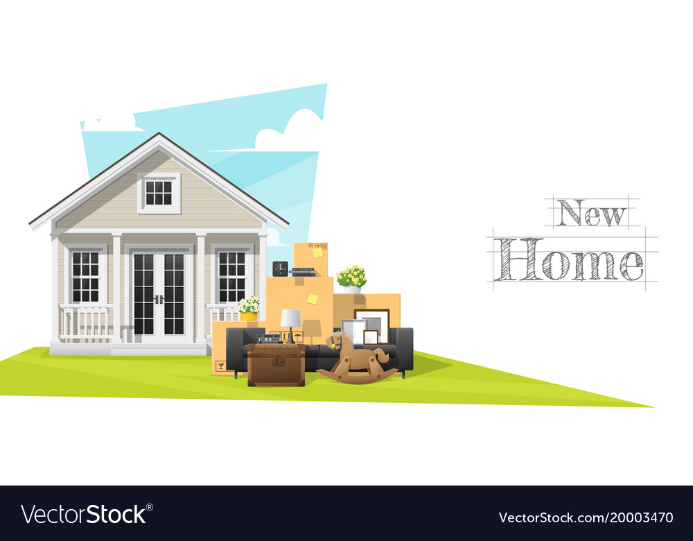 Moving home concept background vector image
