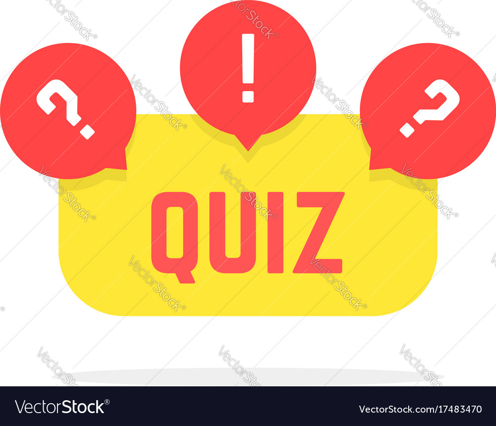 Red and yellow quiz button